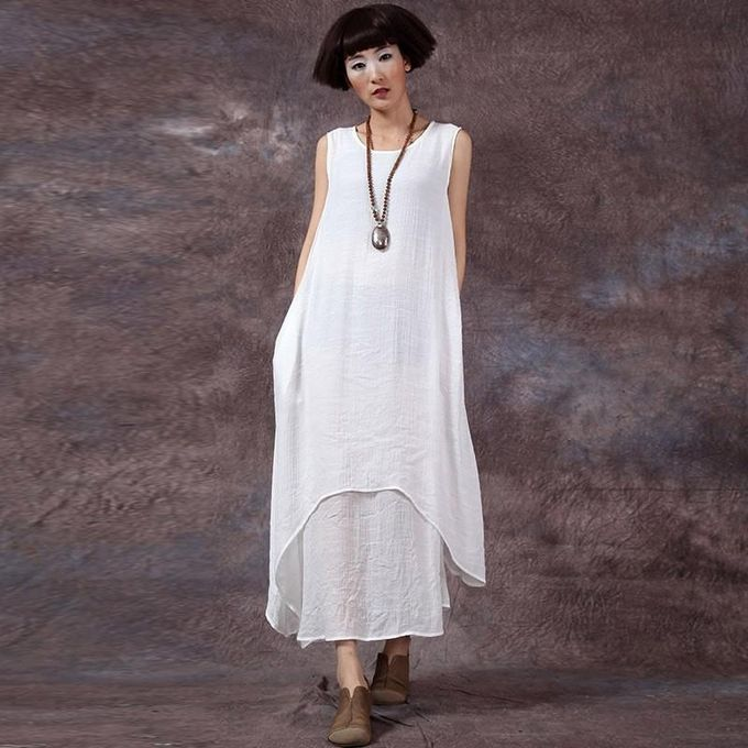 4731d0e9192a ZANZEA Chinese Style Fashion New Womens Casual Loose Dress Cotton Linen  Dresses Long Maxi Vestidos Plus