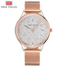 22e316e5a1ef7 MINI FOCUS Brand Quartz Watch Women Watches Ladies Rose Gold Luxury  Stainless Steel Wrist Watch Female