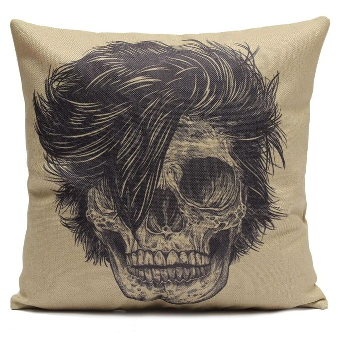 2018 New Cool Design Skull Linen Home Sofa Pillowcase 45x45cm –  مصر