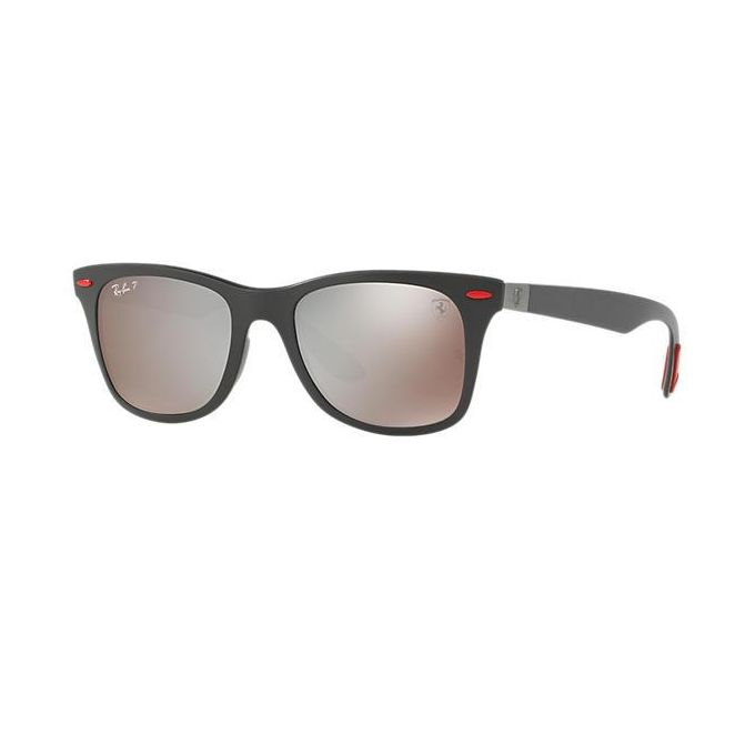 f2ebffa2a8987b ... Ray-Ban RB4195M Scuderia Ferrari Collection Wayfarer Sunglasses Silver  Mirror Polarized (Lightforce) ...