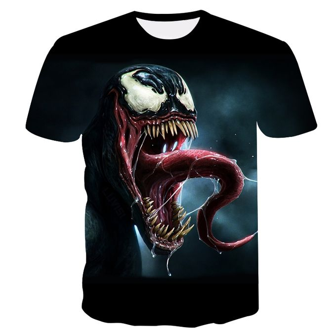 93f4858e1d5 Sale on 2018 Mens Funny Shirt Cool Venom 3D Printed T-Shirts Short Sleeve  Tees