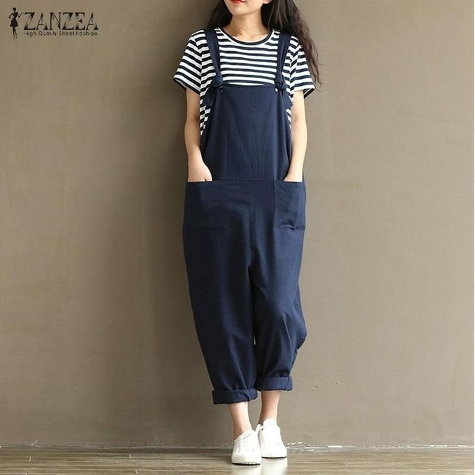 Women's Clothing Fashion Denim Rompers Women Jumpsuits Loose Strapless Playsuits Dungarees Pockets Harem Shorts New Casual Clothes Plus Size 5xl