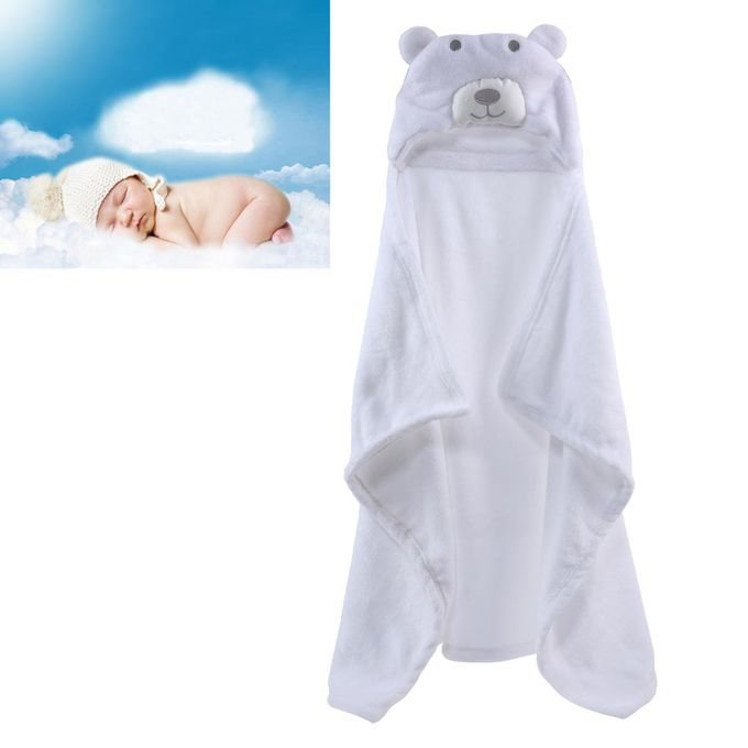 Cute Bear Baby Infant Newborn Hooded Bath Towel Blankets –  مصر