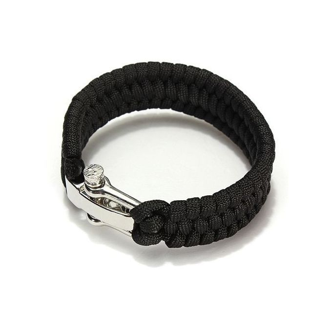 Outdoor Paracord Survival Bracelet (Black)