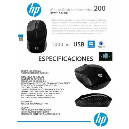 ORIGINAL WIRELESS HP MOUSE 200 BLACK