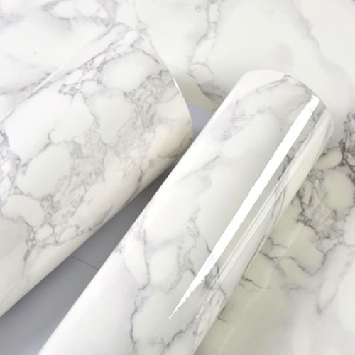 10m Marble Pattern Water-resistant Moistureproof Removable Self Adhesive Wallpaper Peel & Stick PVC Wall Stickers For Living Room Bathroom Kitchen Countertop 1#
