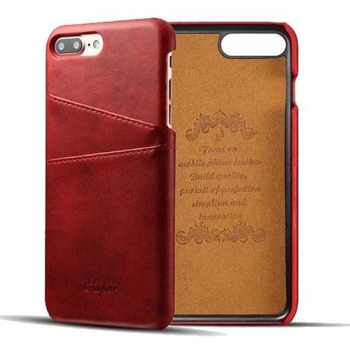 new styles c0474 bc442 Phone Case For Apple IPhone 8 Plus Luxury Leather With Card Case IPhone 8  Plus Fitted Cases Mobile Phone Shell Hard Back Cover Cases - Red
