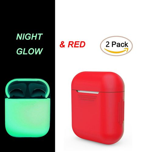 57be9b618e5 Generic AirPods Case 2Pack Protective Silicone Cover And Skin For Apple  Airpods Charging Case (Red) TXSHOP