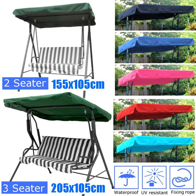 7 Colors 2 & 3 Seater Garden Swing Chair Replacement Canopy Spare Fabric  Cover