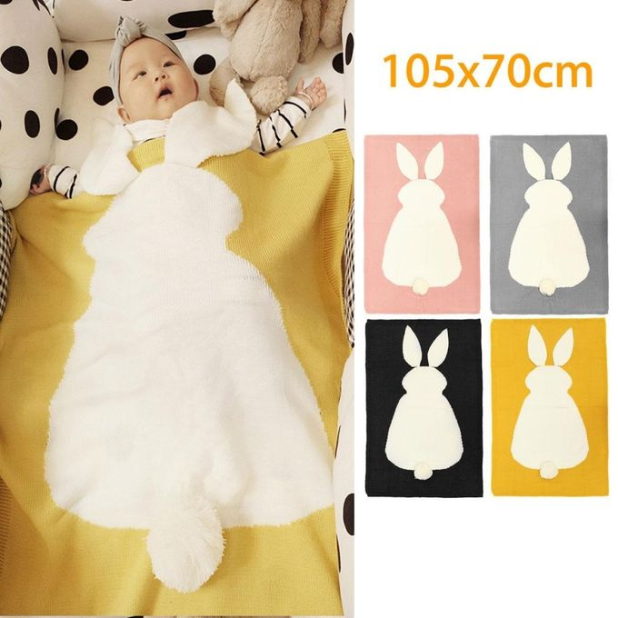 Cute Bunny Kids Baby Napping Blanket Rabbit Bedding Towel Cover Throw Wrap Soft –  مصر