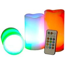 Real Wax Led Changing Candle With Remote Control