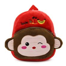 8923e6b916e08 Cartoon Kids Boys Girls Plush Backpacks Baby Cute Children School Bags  -multi-color Mixed