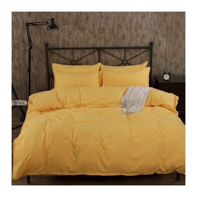 4PCS Suit Polyester Fiber Plain Pure Colour Reactive Printing Bedding Sets Queen King Size Bed Cover –  مصر