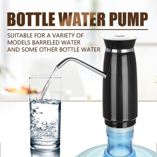 Portable USB Fast Charging Electric Automatic Bottle Drinking Water Pump Dispenser (Black)