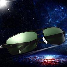 8a5deb16890 Men  039 s Fashion Dark Green Polarized Metal Frame Sunglasses Ultraviolet  Radiation