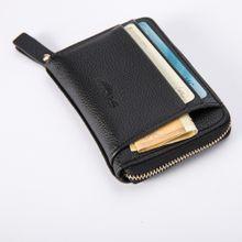 e65e8a20b Fashion Leather Men Business Wallet Vintage Purse High Quality ID Credit  Card Pockets