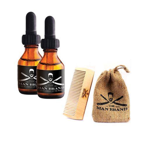 Beard Oil - 20 ml - Set of 2 + Free Comb