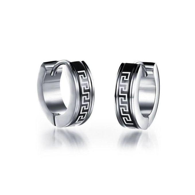 7da12bef94f89 Big Hoop Earrings Black Earrings For Men Stainless Steel Earring Jewelry  Great Wall