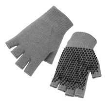 a36d8bc56 Breathable Sweat-Absorbent Yoga Fingerless Non-slip Exercise Grip Gloves