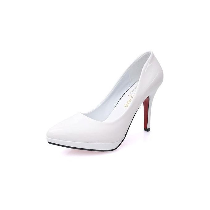 7f8d5207423 10cm Pointed Toe Formal Thin Heels Pumps Women Shallow Sex High Heels  Patent Leather Wedding Shoes