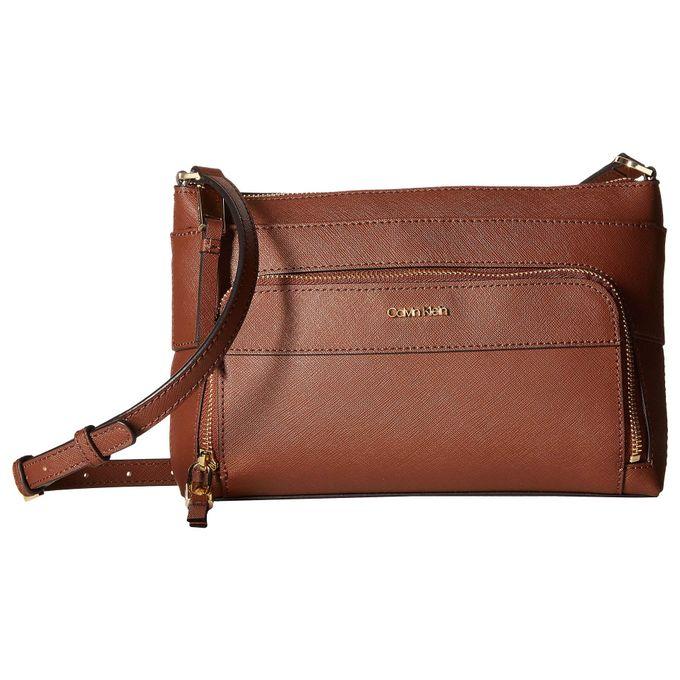 e4a451f818f33 Calvin Klein Key Item Saffiano Leather Top Zip Crossbody - Jumia مصر