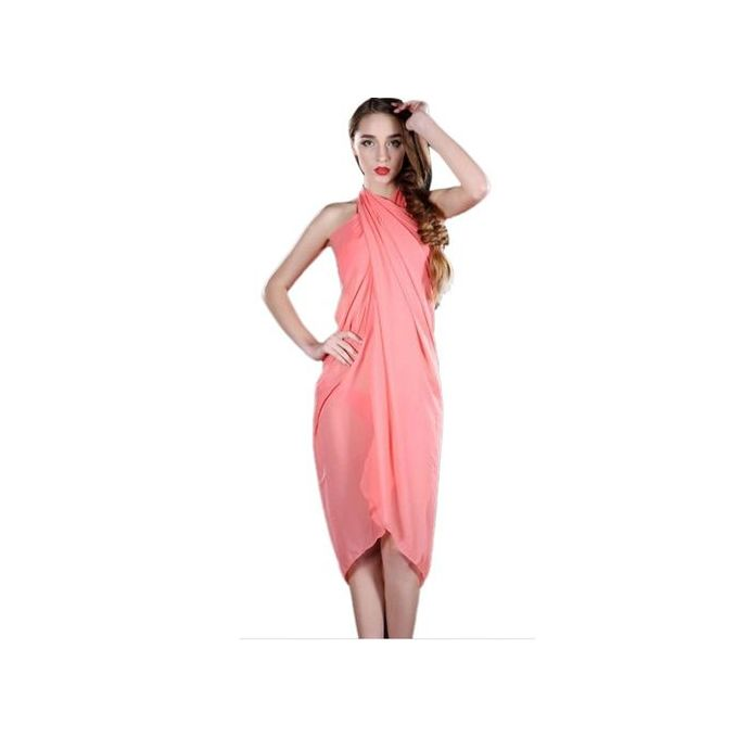 e21737b7ed Hiaojbk Store Women Beach Cover Up Chiffon Skirt Bikini Swimwear Coverup  Wrap Skirt Swimsuit-Orange