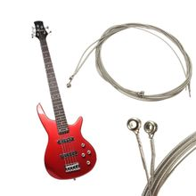 Set Of 4 Electric Bass Guitar Parts Stainless Steel 990L Gauge Strings 045-090