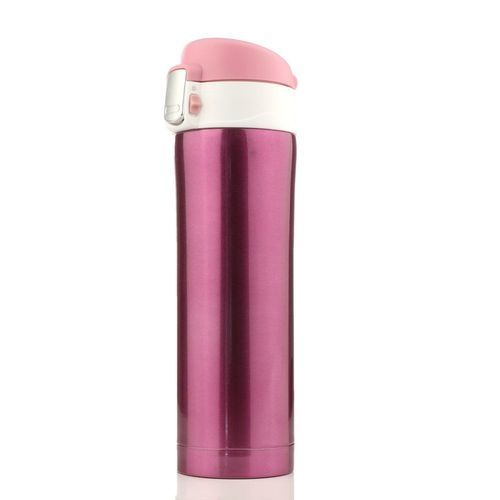 500mL Travel Mug Tea Coffee Water Vacuum Cup Bottle Stainless Steel Thermos Cup Pink