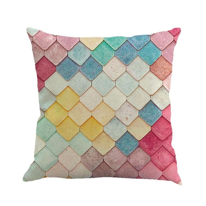 Square Sofa Pillow Covers, Linen Throw Pillowcase Cover 18 X 18 Home Sofa Car Decorative Cushion Covers  –  مصر