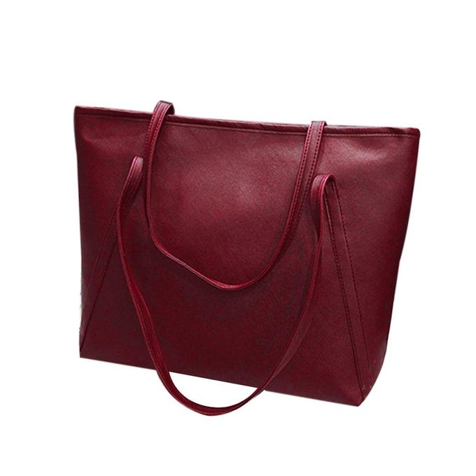 Women Synthetic Leather Large Capacity Single Shoulder Bag Tote Purse  Handbags-Array 39389be78614