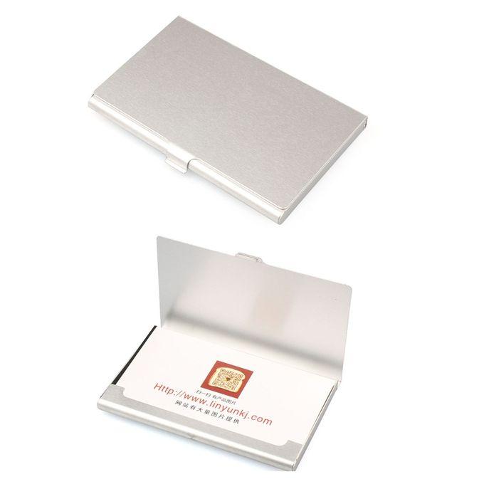 Creative Aluminum Holder Metal Box Cover Credit Business Card Wallet
