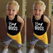 198cc883c71bc Adorabl 2Pcs Toddler Kids Baby Boys Letter Vest Tops+Star Pants Outfits  Clothes Set