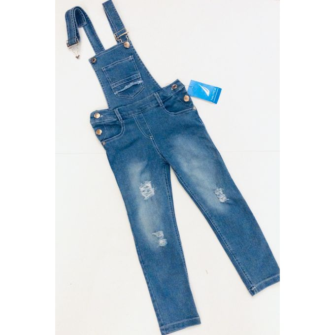 d3a6ee4a18713 Kids Cotton Jeans For 3-6 Years Old Girls Sleeveless Slim Stretch Ripped  Cut Out Overalls Backless Rompers Jumpsuit Classic Light-Blue Denim ...