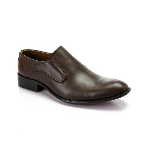Elegant Men's Classic Leather Shoes - Brown
