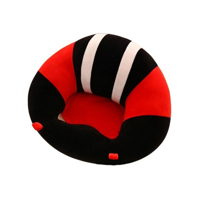 Soft Comfortable Baby Support Seat Sofa Creative Learn Sit Soft Chair Cushion Sofa Plush Pillow Toys Keep Sitting Posture For Baby Style:black Size:40 * 13cm –  مصر