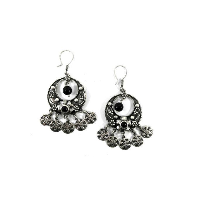 Stamped 925 Sterling Silver Earrings Arabian Design Earring