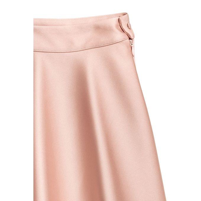 Flared Satin Skirt