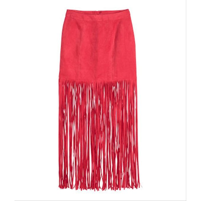 Skirt with Fringe