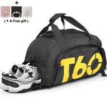 2c5a20edcbf68 الدفيل نسيج صوفي غليظ الرياضة الجمنازيوم حقيبة للماء اللياقة سفر حقيبة مع  مقصورة الأحذية --