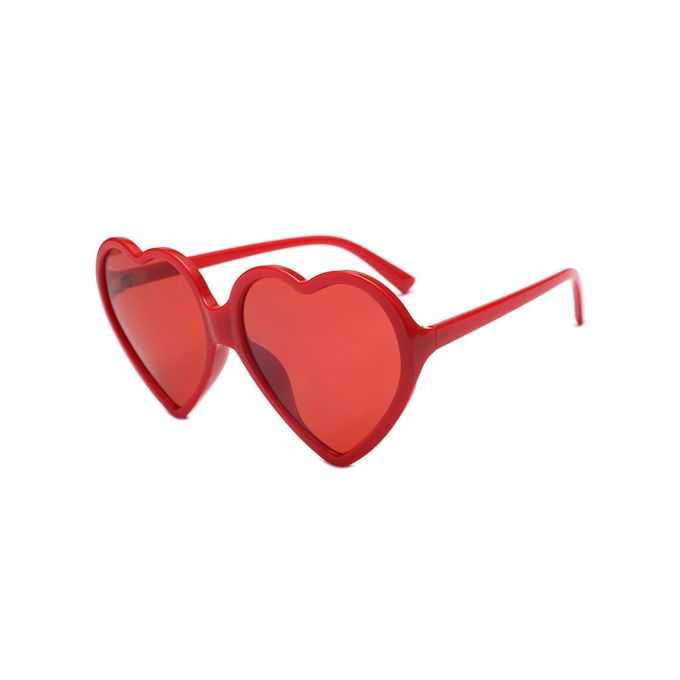 Sale on Sunshine Women Love Heart Shape Transparent Lens Sunglasses ...