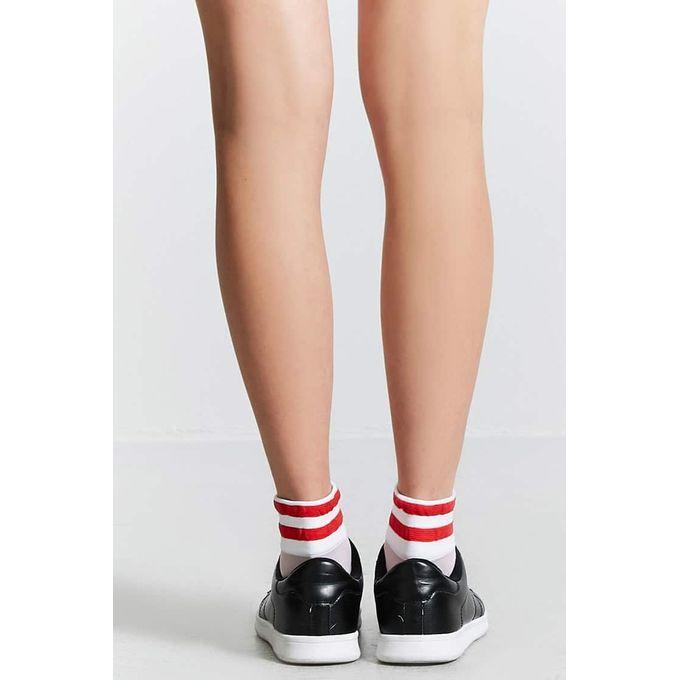 Sheer Varsity Crew Socks