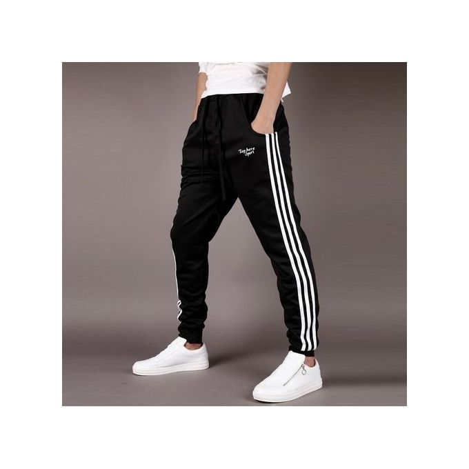 GenericMen Harem Pants Casual Black Loose Baggy Elastic Waist Harem Pants