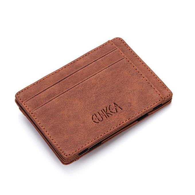 544b0c66544ee2 Men Slim Wallet Leather Credit Card Holder Coin Zip Bag Money Clip Billfold