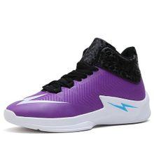 Basketball Shoes Men Fashion Anti-Slip Athletic Running Shoes (Purple) 9ac49764d3c1