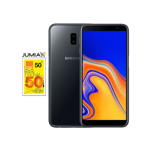 Galaxy J6+ هاتف - 6.0 بوصة - 32 جيجا بايت - شبكة 4G - أسود