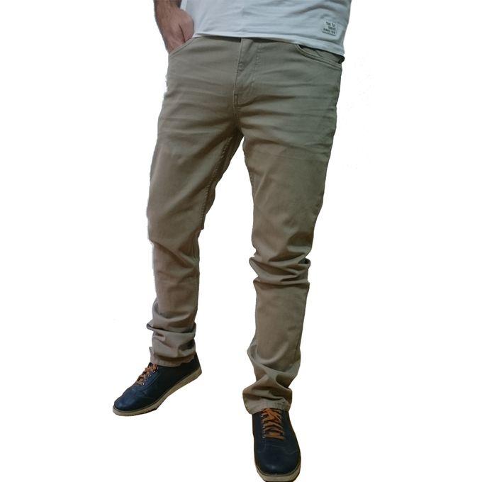 7c06adb6f بنطلون جينز رجالي برندات مستورد - بيج - Jumia مصر