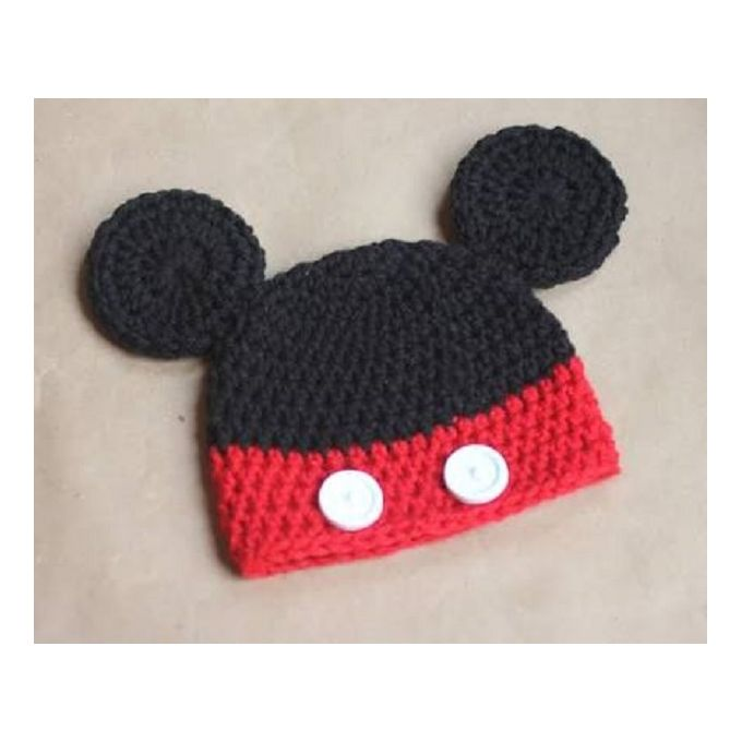 Sale on Stylish Baby Girl Winter Mickey Mouse Ice Cap - Red   Black ... 2afd10f15bc