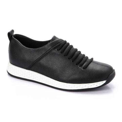Lace Up Sports Shoes - Black
