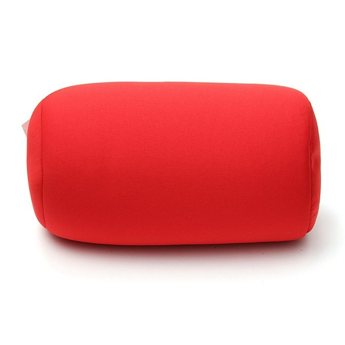 Home Car Seat Head Rest Neck Support Mini Microbead Cushion Roll Pillow 30x16cm Red –  مصر