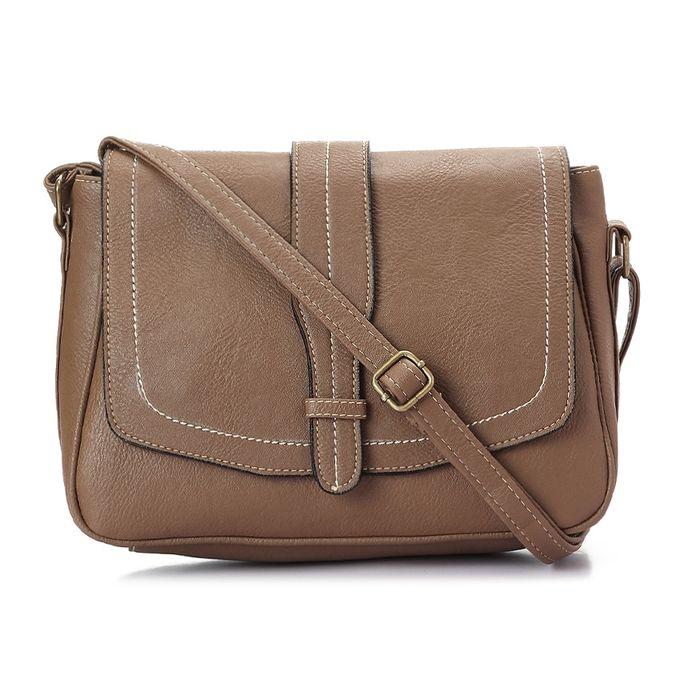 c91dcce18f78cc Order Saddle Leather Women Crossbody Bag - Dark Coffee at Best Price ...